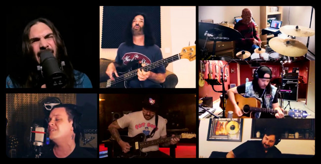 VIDEO: 'Hunger Strike' covered by Cold, Crobot, Breaking Benjamin, Candlebox, Lifer, and Earshot members in quarantine