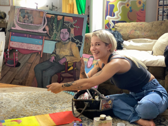 Scranton artist Miranda Pikul reinvents art show for COVID-19 at Wonderstone Gallery in Dunmore on Aug. 8