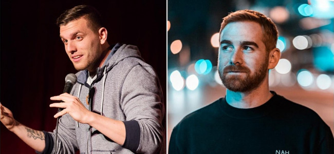 Comedians Chris Distefano and Andrew Santino perform live at Circle Drive-In in Dickson City on Oct. 10