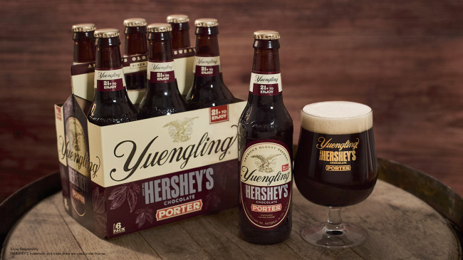 Yuengling and Hershey's Chocolate Porter now available in bottles for limited time