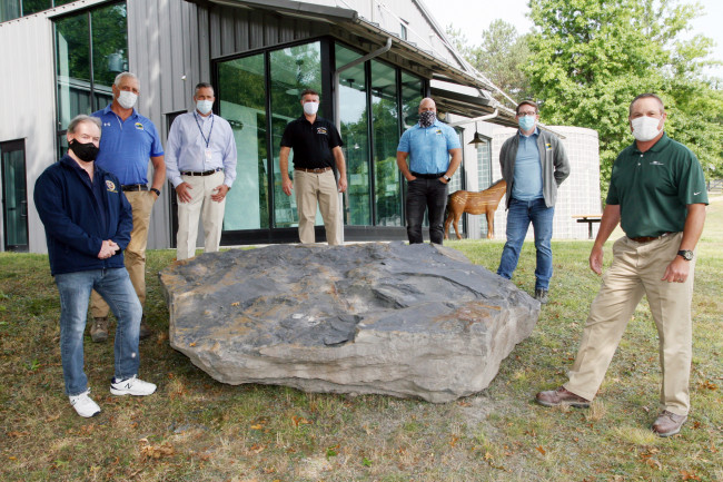 Boulders with 300-million-year-old fossils donated to McDade Park in Scranton