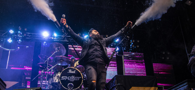 PHOTOS: Skillet and Colton Dixon at Circle Drive-In in Dickson City, 10/02/20