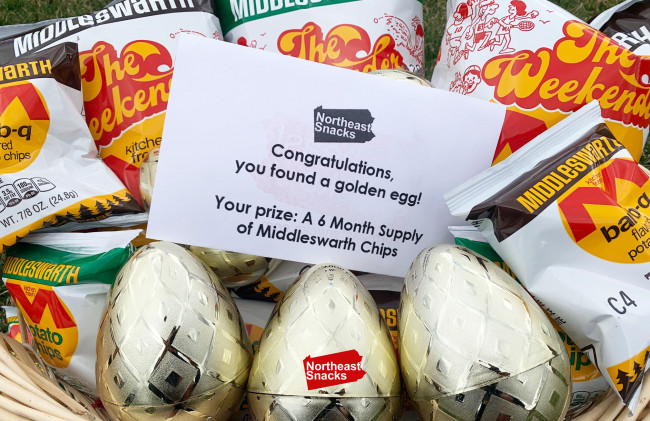 Northeast Snacks hosts Easter egg hunt in Wyoming Valley, giving away Middleswarth Chips