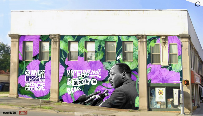 New Martin Luther King, Jr. mural will be painted on Mulberry St. in downtown Scranton