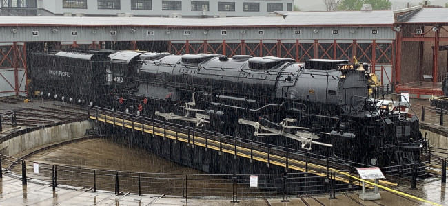 WWII-era 'Big Boy' locomotive restored and returned to Steamtown in Scranton for National Train Day