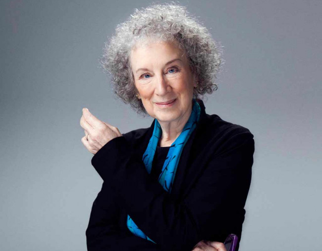 'Handmaid's Tale' author Margaret Atwood speaks at Wilkes University on April 26, 2022
