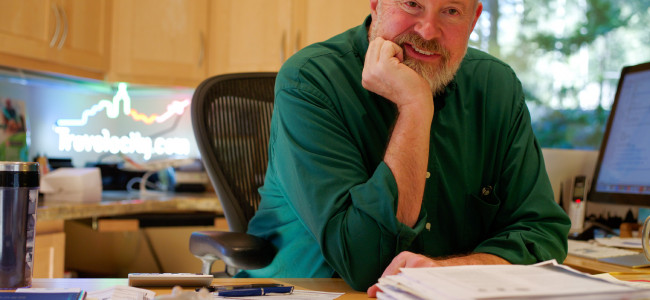 Travelocity founder Terry Jones gives business speech at Wilkes University on Oct. 21