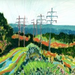 power line archbald painting