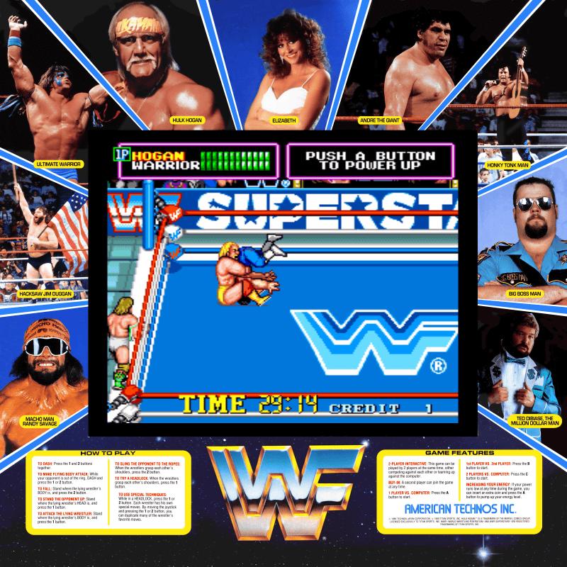 Turn To Channel 3 Wwf Superstars Arcade Game Still