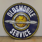 Porcelain Enamel Oldsmobile Sign