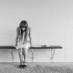 depression alone girl bench