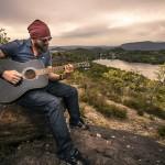 guitarist nature landscape