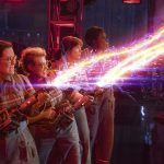 The Ghostbusters Abby (Melissa McCarthy), Holtzmann (Kate McKinnon), Erin (Kristen Wiig) and Patty (Leslie Jones) in Columbia Pictures' GHOSTBUSTERS.