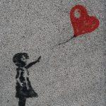 graffiti heart balloon sad