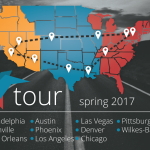 Tunefly cross-country tour map