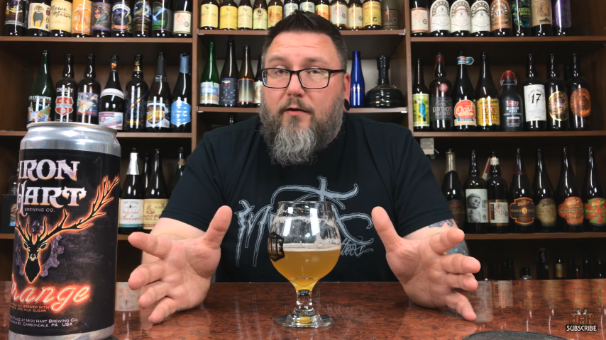 MASSIVE BEER REVIEWS: Orange Neon IPA By Iron Hart Brewing