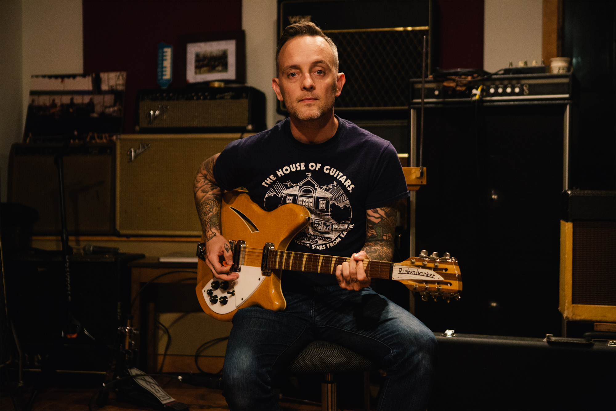 Philly folk punk singer songwriter Dave Hause plays at Kirby Center in Wilkes Barre on June 17