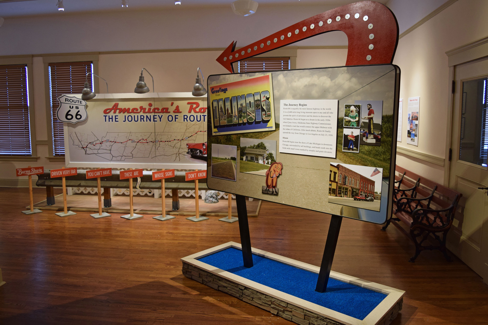 Ride Route 66 At Exhibit With Car Cruise And Kids Movie At