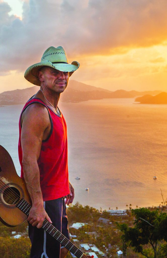 Country Superstars Kenny Chesney And David Lee Murphy Play